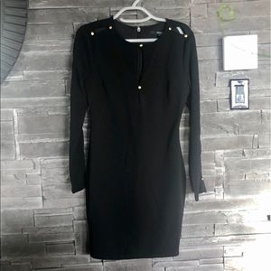 Guess midi black dress